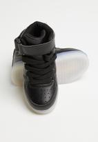 POP CANDY - Hi-top light up sneaker - black