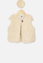 Cotton On - Alex vest - dark vanilla