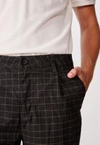 Cotton On - Oxford trouser - black window