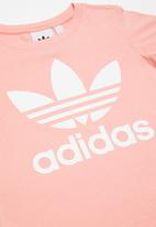 adidas Originals - Little girls trefoil tee - pink & white