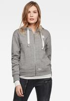 G-Star RAW - Fyx biker hooded sweater - grey