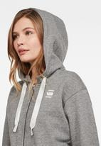 G-Star RAW - Fyx biker hooded sweater - grey