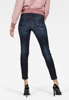 G-Star RAW - 3301 High waist skinny ankle - sapphire