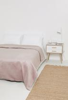 Sixth Floor - Velvet bed quilt - dusty pink