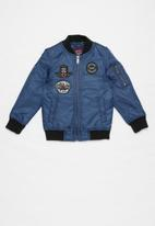 SOVIET - Foxtrot fashion bomber jacket - blue