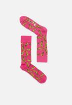 Happy Socks - Andy Warhol socks - pink & yellow