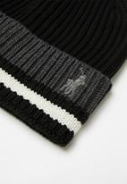 POLO - Earl stripe ribbed beanie - multi