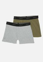 Superbalist - 2-Pack tex boxer briefs - khaki & grey