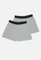 Superbalist - 2 Pack knit boxers - grey