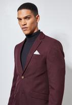 Superbalist - Regent slim fit blazer - burgundy