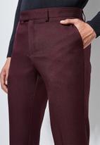 Superbalist - Regent slim fit trousers - burgundy