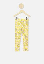 Cotton On - Huggie tights -  yellow & white