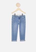 Cotton On - Brooke slouch yoke jean - blue