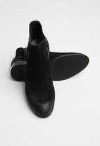 Jack & Jones - Peter suede chelsea boot - black
