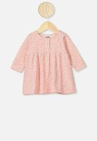 Cotton On - Molly long sleeve dress - retro coral