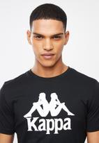 KAPPA - Authentic estessi tee - black & white