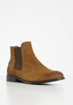 Jack & Jones - Peter suede chelsea boot - brown