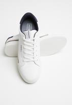 Jack & Jones - Trent stripe sneaker - white & navy