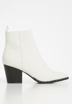 Cotton On - Spencer studded rand boot - white