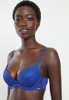 DORINA - Kendall push up plunge bra - blue