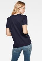 G-Star RAW - Gyre ringer short sleeve tee - navy
