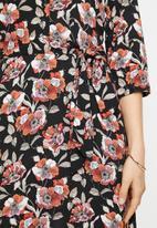 Jacqueline de Yong - Starr life 3/4 maxi dress - black