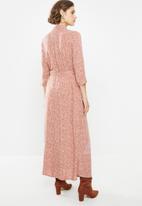 Jacqueline de Yong - Starr life 3/4 maxi dress - red