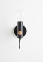 Sixth Floor - Lexi wall light - black