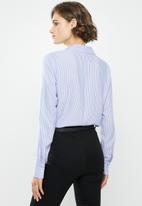 Jacqueline de Yong - Tom long sleeve shirt - blue & white