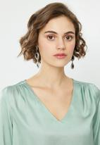 ONLY - Faby long sleeve V-neck top - soft mint