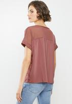 ONLY - Semma short sleeve top - dusty pink