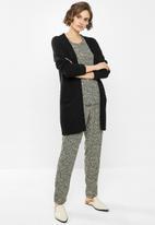 Jacqueline de Yong - Starr life pants - black & neutral
