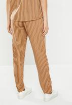 Jacqueline de Yong - Starr life pants - brown & white