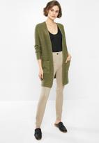 Jacqueline de Yong - Mollo long sleeve structure cardigan - olive