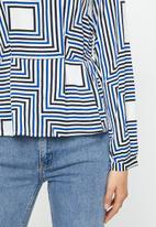 Vero Moda - Mezy long sleeve top - blue & white