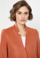 Vero Moda - Brush 3/4 length jacket - orange