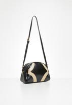 Superbalist - Half moon crossbody bag - black & beige