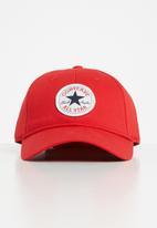 Converse - Can Converse chuck patch curve brim cap - red