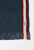 POLO - Chris polo scarf & beanie set - navy & beige