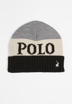 POLO - Chris polo scarf & beanie set - grey & navy
