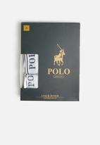 POLO - Classic knit boxer 3 pack - white & navy