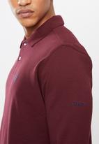 Pringle of Scotland - St Augustine long sleeve styled sps - burgundy