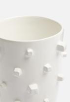 Urchin Art - Kay vase - white