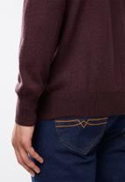 Pringle of Scotland - Peter round neck knit - burgundy
