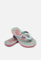 Plakkie - Plakkie flip-flop - clifton grey & red
