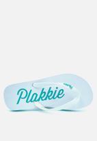 Plakkie - Plakkie flip-flop - port saint johns white & mint