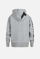 Converse - Converse star chevron fz hoodie - grey