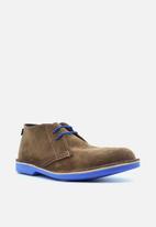 Veldskoen - Heritage suede vellie boot - j-bay blue & brown
