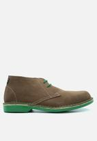 Veldskoen - Heritage suede vellie boot - lowveld green & brown