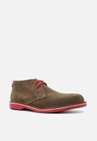 Veldskoen - Heritage suede vellie boot - pinotage red & brown